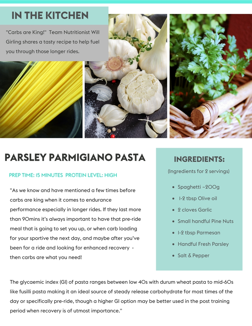 PARSLEY PARMIGIANO PASTA