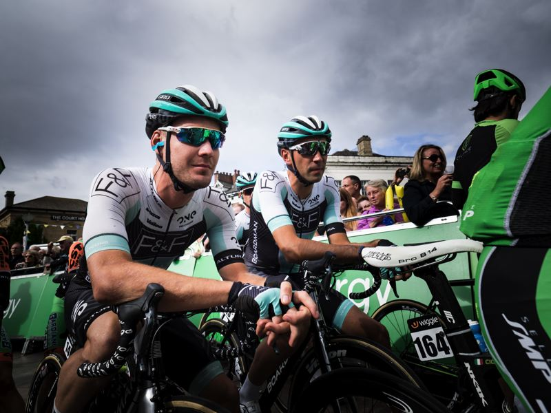 MCCORMICK ANIMATES THE BREAK ON STAGE SIX AT THE TOUR OF BRITAIN